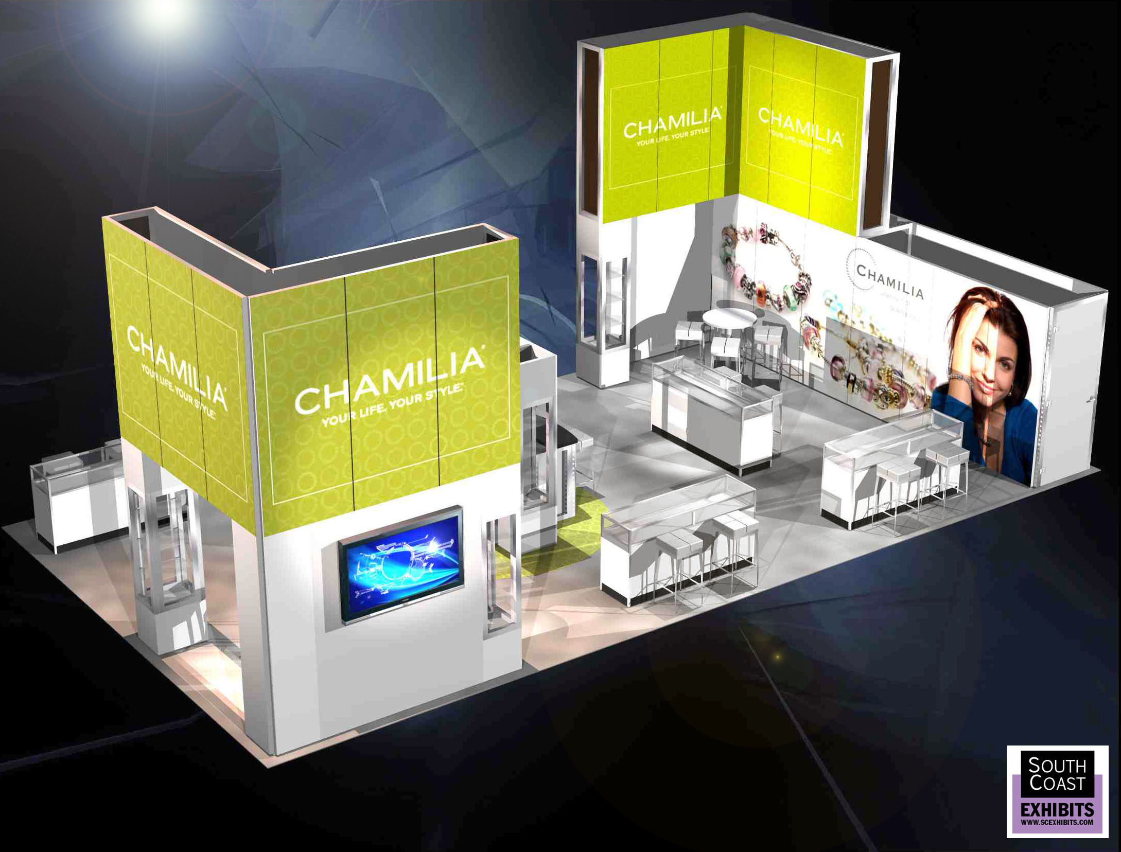 Trade Show Exhibit Chamilia