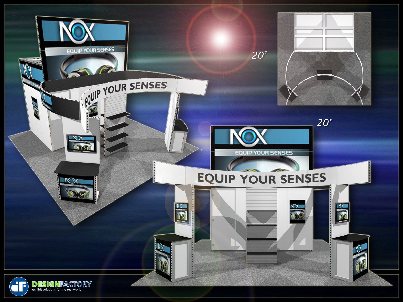 Trade show booth options