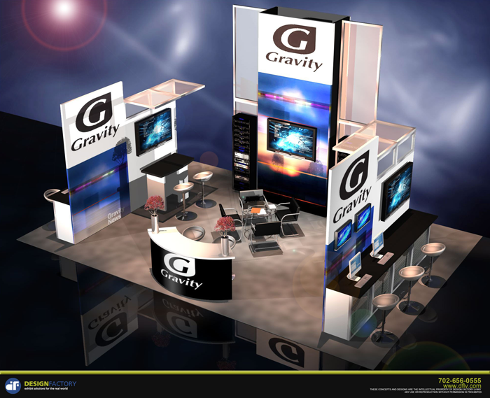 Gravity Convention Booth by the Design Factory