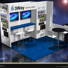3Way 10x10 trade show exhibit